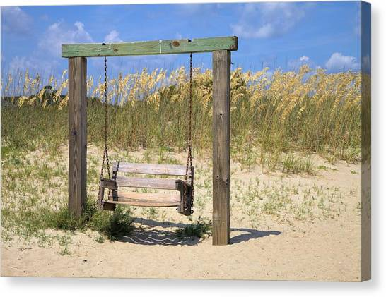 Tybee Island Swing Canvas Print