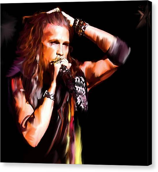 Aerosmith Canvas Print -  Steven Tyler  Tyler II by Iconic Images Art Gallery David Pucciarelli