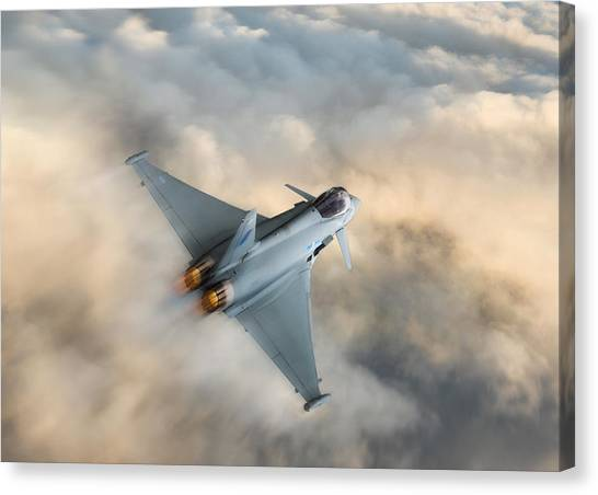 Nato Canvas Print - Typhoon Warning by Peter Chilelli