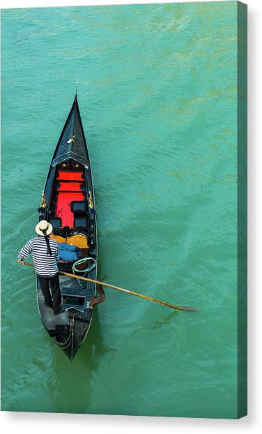 Typical Gondola In Venice - Italy Canvas Print