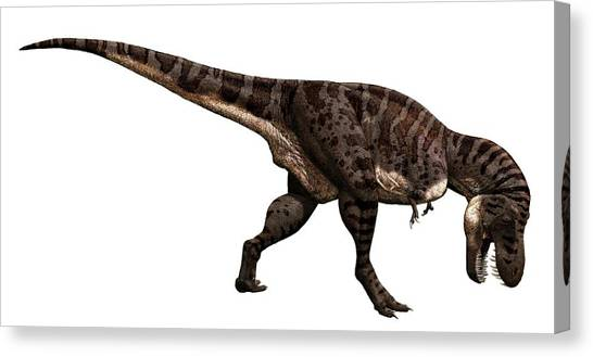 Tyrannosaurus Canvas Print - Tyrannosaurus Rex Dinosaur by Julius T Csotonyi/science Photo Library