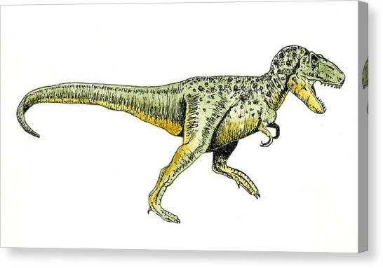 Tyrannosaurus Canvas Print - Tyrannosaurus Rex by Michael Vigliotti