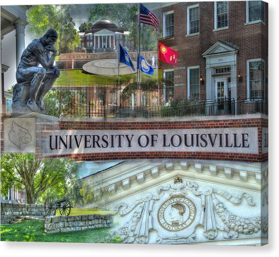 University Of Louisville Canvas Print - U Of L Southern Police Insitute by Gina Munger