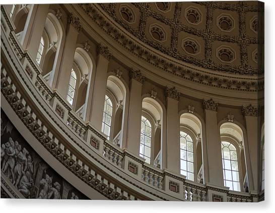 Washington D.c Canvas Print - U S Capitol Dome by Steve Gadomski