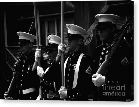 U. S. Marines - Monochrome Canvas Print