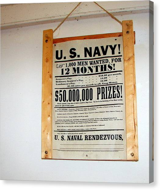 U. S. Navy Men Wanted Canvas Print