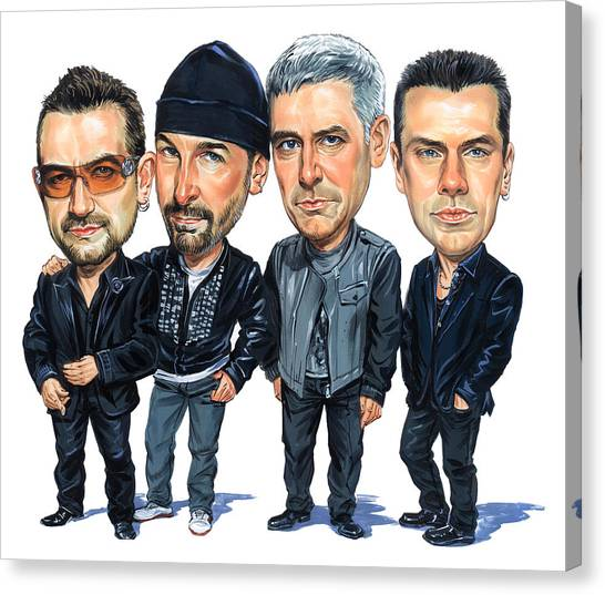 Caricatures Canvas Print - U2 by Art