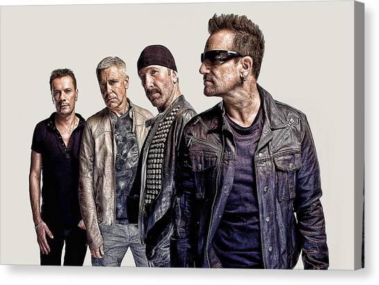 U2 Canvas Print - U2 Goup by Galeria Trompiz