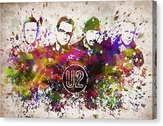 Bono Canvas Print - U2 In Color by Aged Pixel