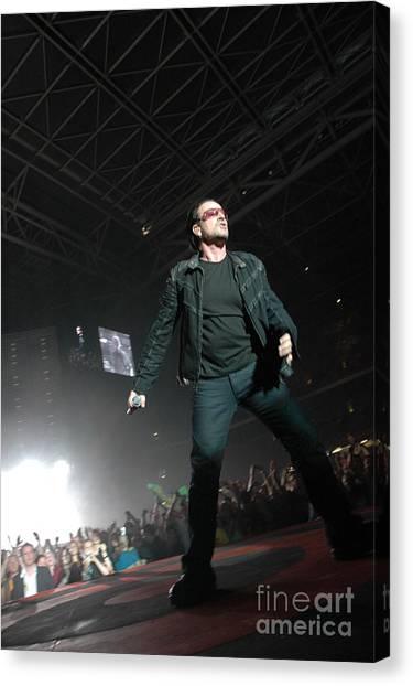 Bono Canvas Print - U2 by Jenny Potter