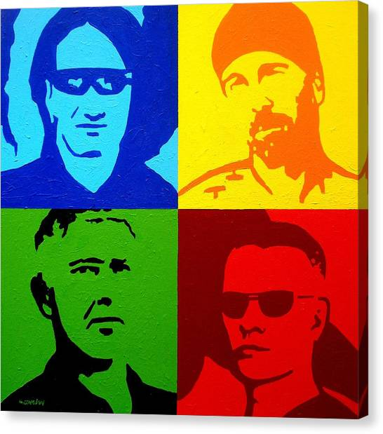 U2 Canvas Print - U2 by John  Nolan
