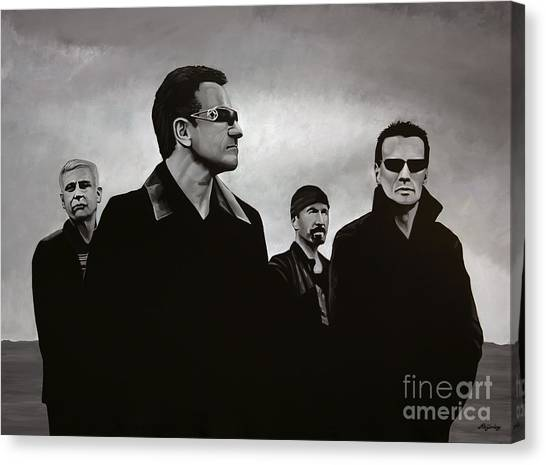 Concerts Canvas Print - U2 by Paul Meijering