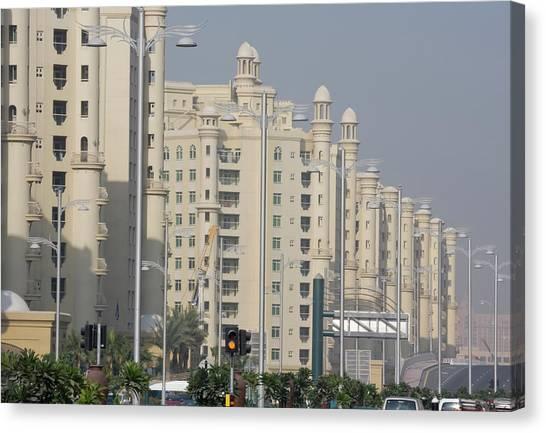 Stoplights Canvas Print - Uae, Dubai Apartment Buildings Next by Jaynes Gallery