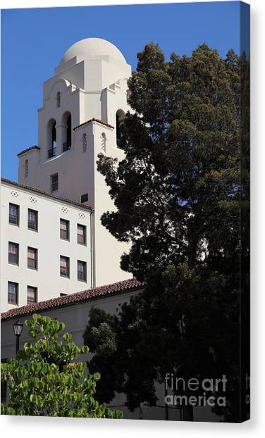 Uc Berkeley Canvas Print - Uc Berkeley International House College Dormatory 5d24741 by Wingsdomain Art and Photography