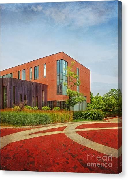University Of Connecticut Canvas Print - Uconn Laurel Hall by Steve Pfaffle