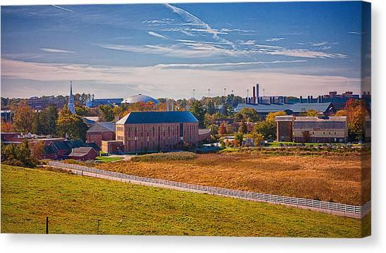 University Of Connecticut Canvas Print - Uconn Skyline by Steve Pfaffle