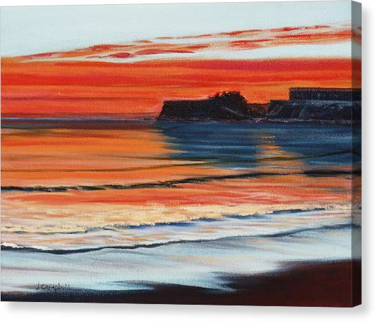 Ucsb Canvas Print - Ucsb At Sunset by Jeffrey Campbell