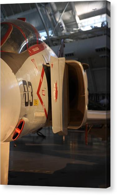 Helicopter Canvas Print - Udvar-hazy Center - Smithsonian National Air And Space Museum Annex - 121232 by DC Photographer