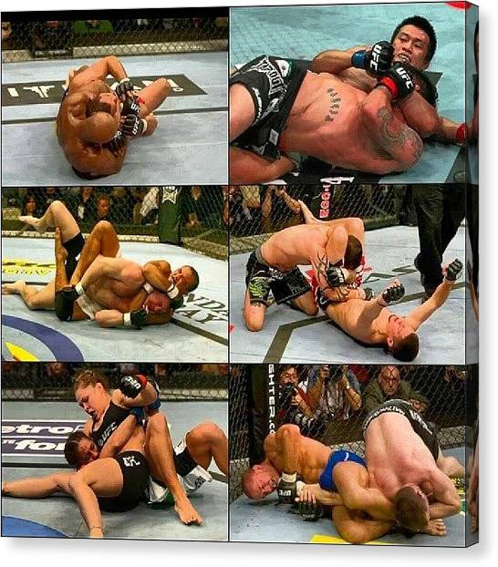Submission Canvas Print - Ufc Submission Take Downs #ufc by Brandon Fisher