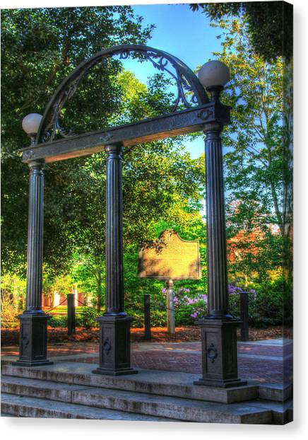 University Of Georgia Canvas Print - Uga Arch by Phil Rowe