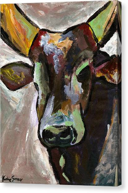 Ugandan Long Horn Cow Canvas Print