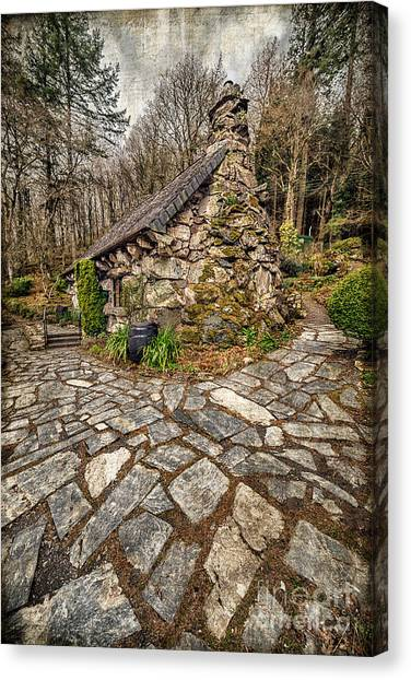 Conwy Canvas Print - Ugly Cottage by Adrian Evans