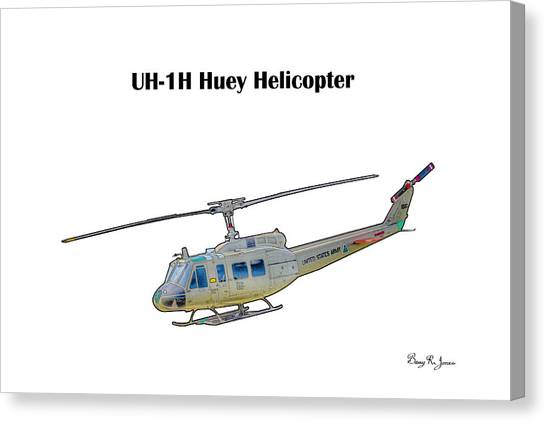 Uh-ih Huey Helicopter Canvas Print