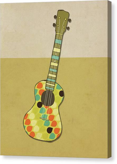Guitar Canvas Print - Uke I by Lisa Barbero