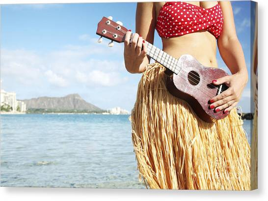 Hawaii Canvas Print - Ukulele Dancer by Brandon Tabiolo