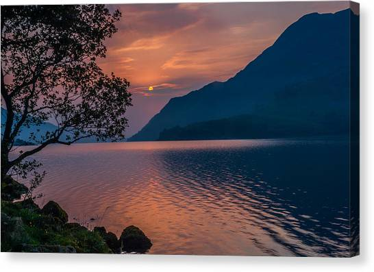 Ullswater Sunrise Lake District Canvas Print by David Ross