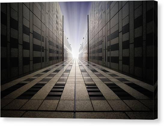 Tunnels Canvas Print - Ultimate Brightness Mk.ii by Dr. Akira Takaue