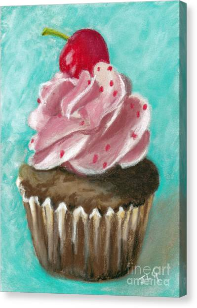 Ultimate Cupcake Canvas Print by Jan Gibson