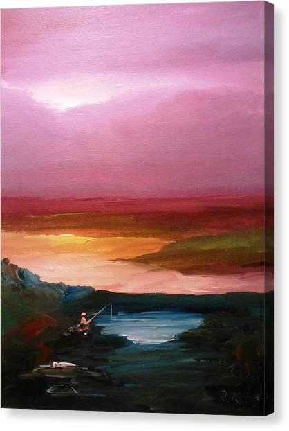 Canvas Print featuring the painting Ultimate Paecefulness  by Ray Khalife