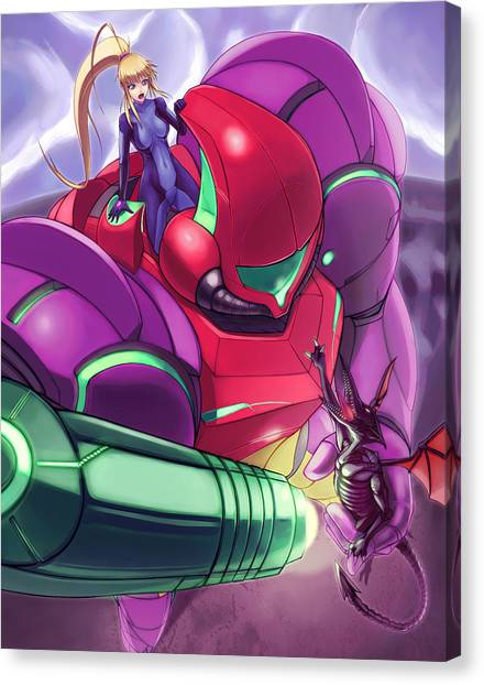 Metroid Canvas Print - Ultimate Varia by Nick Savino