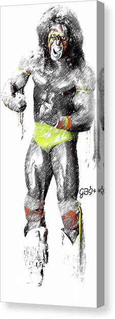 Wwe Canvas Print - Ultimate Warrior By Gbs by Anibal Diaz