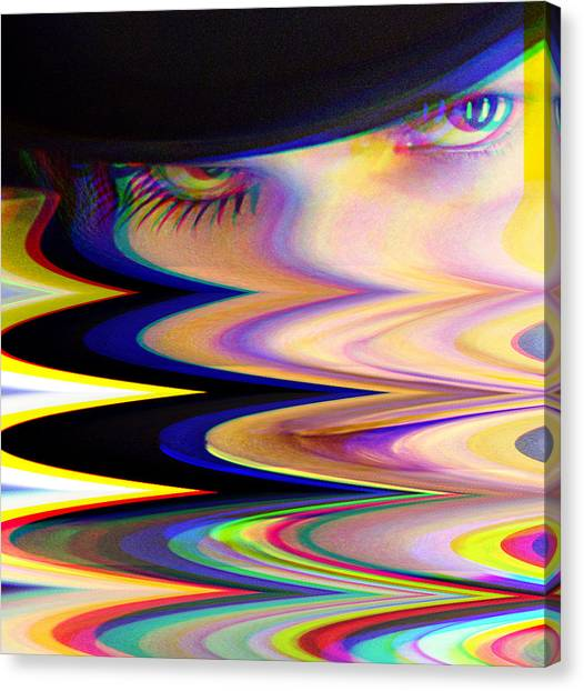 Clockwork Orange Canvas Print - Ultraglitch by Enad Yenrac