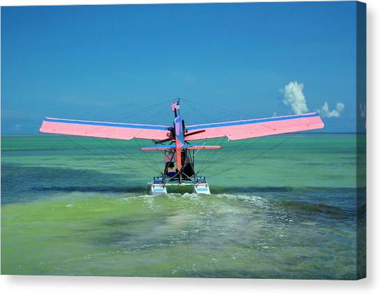 Seaplanes Canvas Print - Ultralight Seaplane by Mike Theiss/science Photo Library