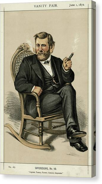 Ulysses Grant American Civil War Canvas Print by Mary Evans Picture Library