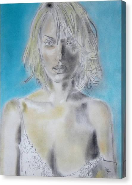 Uma Thurman Portrait Canvas Print