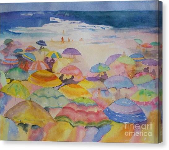 Umbrella Abstract Canvas Print