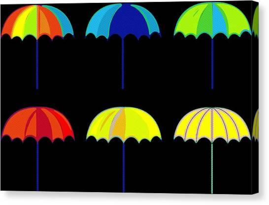 Rihanna Canvas Print - Umbrella Ella Ella Ella by Florian Rodarte