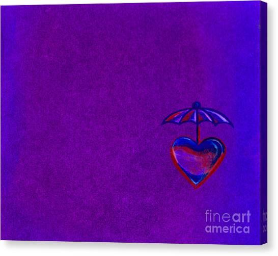 Umbrella Heart Canvas Print