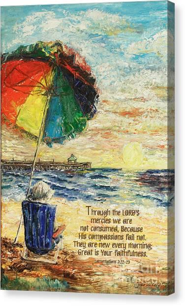 Umbrella Sunrise Lamentations 2 Canvas Print