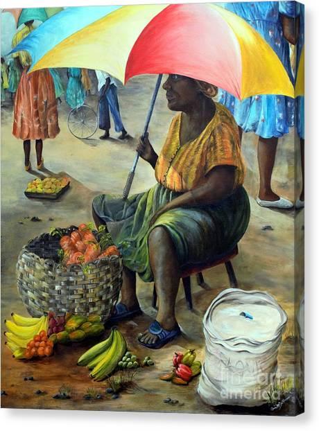 Umbrella Woman Canvas Print