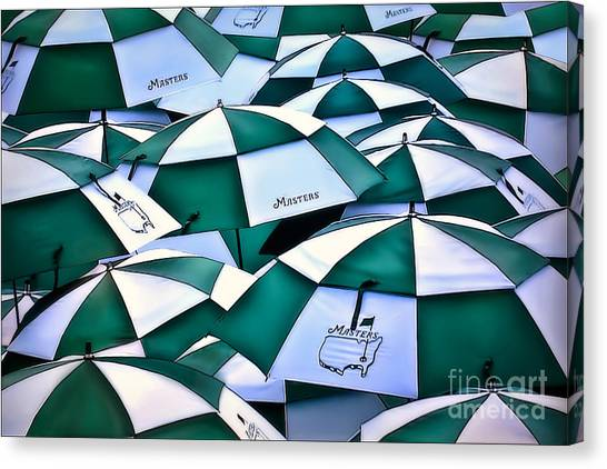Umbrellas At The Masters Canvas Print
