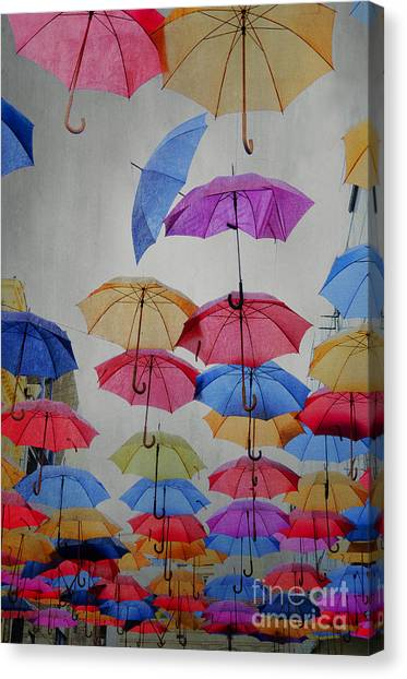 Umbrellas Canvas Print