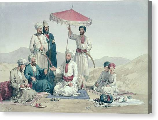 Attendant Canvas Print - Umeer Dost Mohammed Khan by Louis Hague