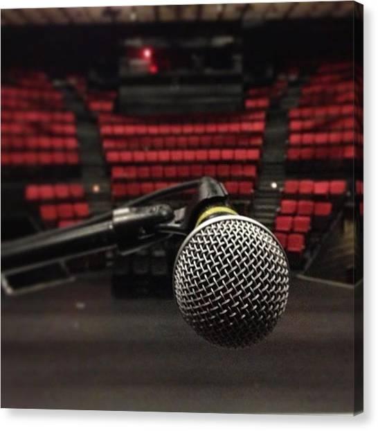 Microphones Canvas Print - Solo by Lauren Brumley