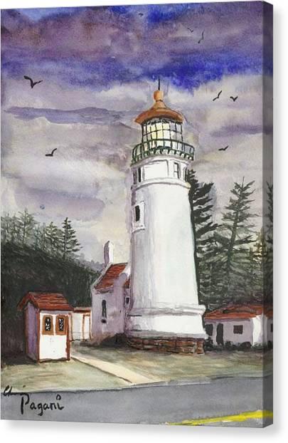 Umpqua Lighthouse Canvas Print