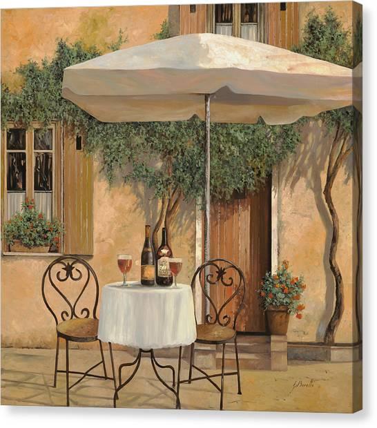 Red Wine Canvas Print - Un Altro Bicchiere Prima Di Pranzo by Guido Borelli